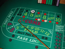 Craps Table.