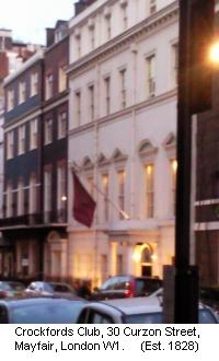 Crockfords Casino Club, Mayfair, London W1. The world's oldest private gaming club. Established 1828.