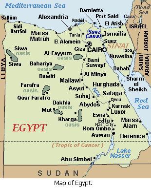 Egypt Gambling Casinos - Map of egypt ports