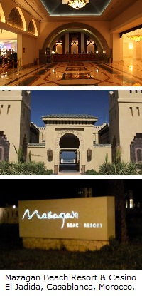 Mazagan Beach Resort and Casino, El Jadida (Casablanca), Morocco.