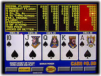 video poker slot machine games